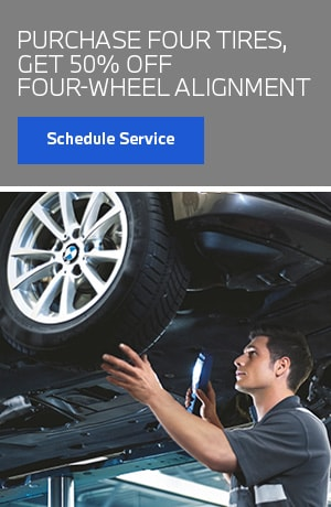 Purchase 4 Tires, Get 50% off Wheel Alignment