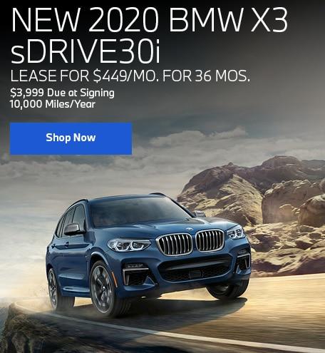New 2020 BMW X3