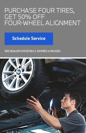 50% Off Alignment with Purchase of 4 Tires