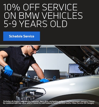 10% Off Service BMW Vehicles 5-9 Years Old