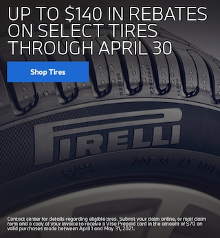 Up to $140 in Tire Rebates