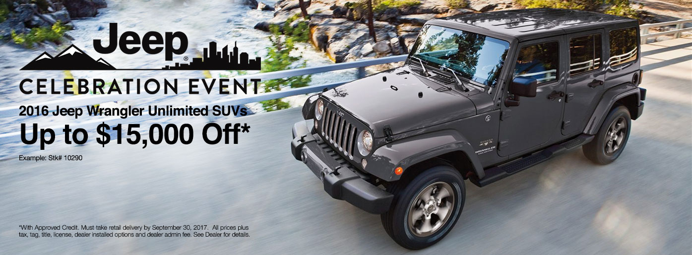 2017 Jeep Special In Birmingham, AL. VIEW INVENTORYCLAIM OFFER