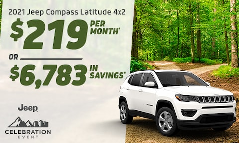 2021 Compass Latitude 4x2 Lease Offer