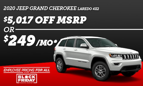 2020 Grand Cherokee Laredo 4x2 - Black Friday Special