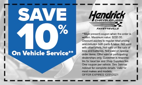 Save 10% On Vehicle Service