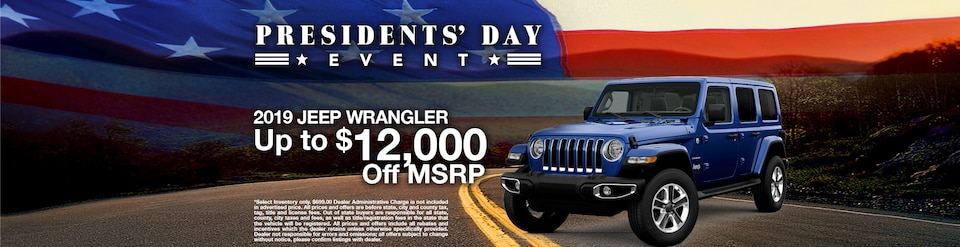 2019 Jeep Wrangler Offer - February