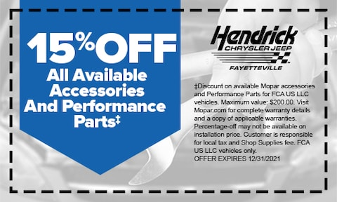 15% Off Accessories & Performance Parts