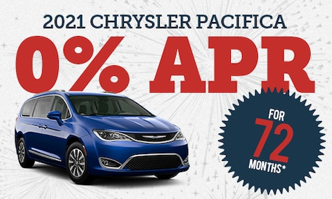 0% Financing for 72 Months on New 2021 Chrysler Pacifica