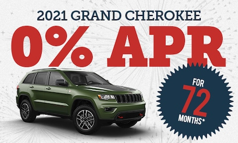 0% Financing for 72 Months on New 2021 Jeep Grand Cherokee