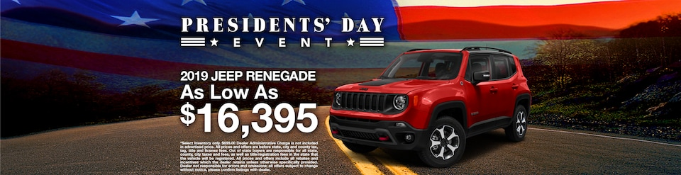 2019 Jeep Renegade Offer - February