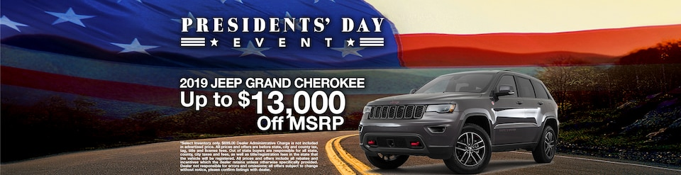 019 Jeep Grand Cherokee Offer - February