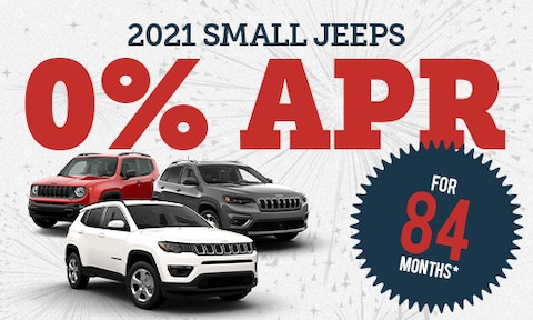 0% Financing for 84 Months on New 2021 Small Jeeps