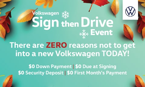 VW Sign then Drive Event