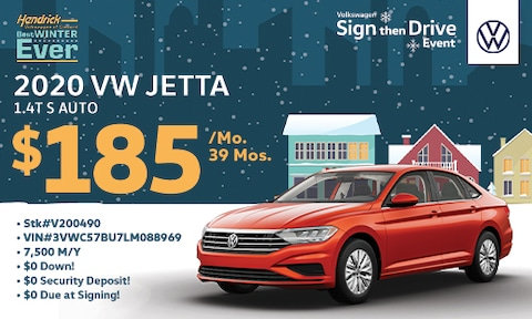 New 2020 Jetta S Special Lease