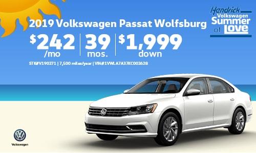 2019 VW Passat Offer