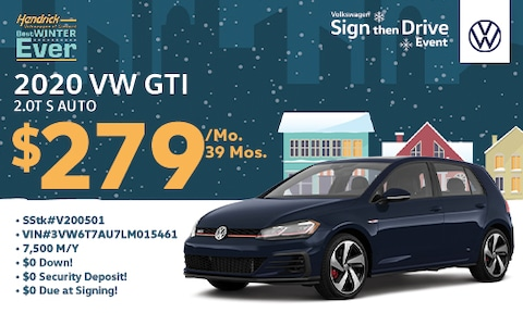 New Golf GTI Special Lease