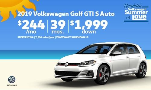 2019 VW Golf GTI Offer