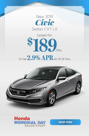 New 2019 Civic Sedan CVT LX