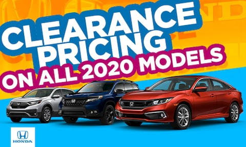 Clearance Pricing on New 2020 Models