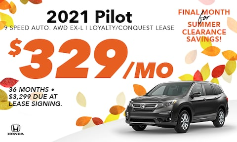 2021 Pilot Loyalty/Conquest Offer