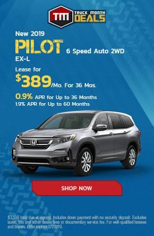 New 2019 Pilot 6 Speed Auto 2WD EX-L