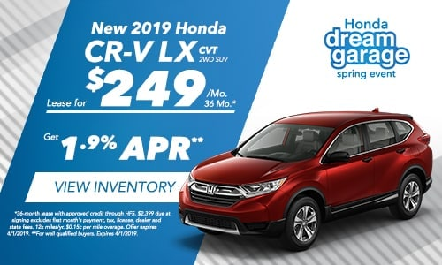 2019 CR-V - Honda Spring Dream Garage