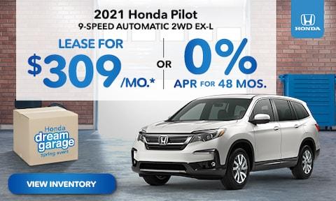 2021 Honda Pilot Lease Offer