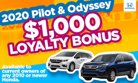 New Odyssey/Pilot Loyalty Special
