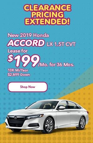 New 2019 Honda Accord LX 1.5T CVT