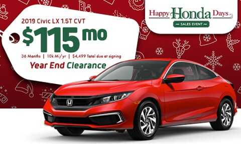 219 Honda Civic Offer - December 2019
