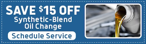 Save $15 on Synthetic-Blend Oil Change