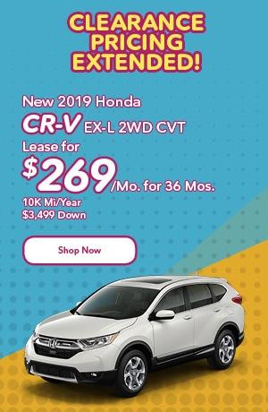 New 2019 Honda CR-V EX-L 2WD CVT