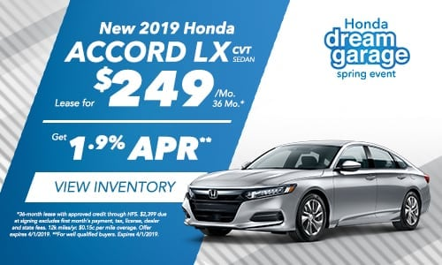 2019 Accord - Honda Spring Dream Garage