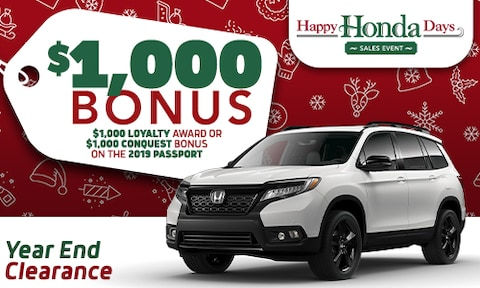 2019 Honda Passport Offer - December 2019