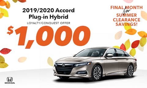 New Accord Hybrid Loyalty/Conquest Special