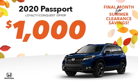 New Passport Loyalty/Conquest Special
