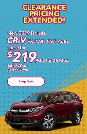 New 2019 Honda CR-V EX 2WD CVT Auto