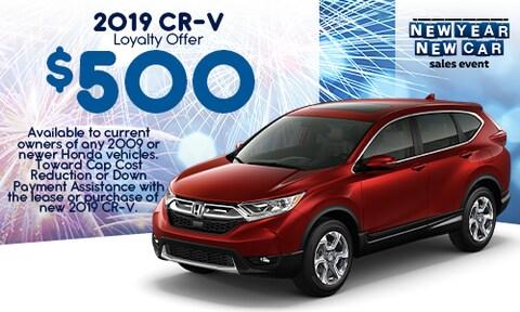 2019 CR-V Loyalty Offer - Jan 2020