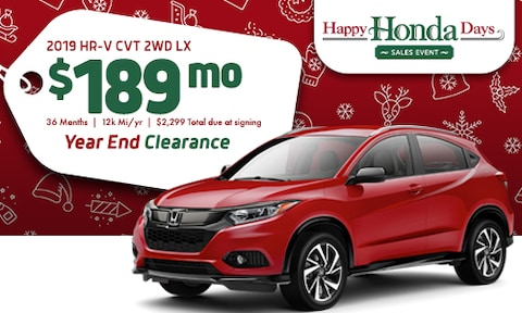 2019 Honda HR-V Offer - December 2019