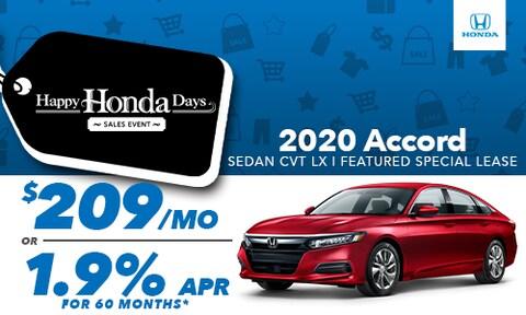 2020 Accord Sedan Lease