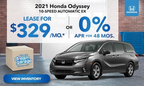 2021 Honda Odyssey Lease Offer