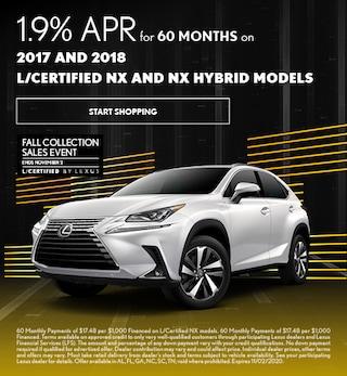1.9% APR Financing NX CPO