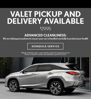 Valet Pick-up & Delivery