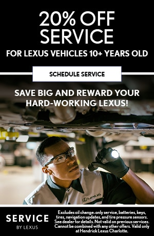 20% OFF SERVICE FOR LEXUS VEHICLES 10+ YEARS OLD