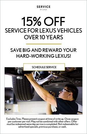 Service For Lexus Vehicles Over 10 Years