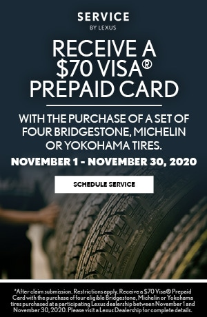 VISA Pre-paid Card with Purchase of Tires