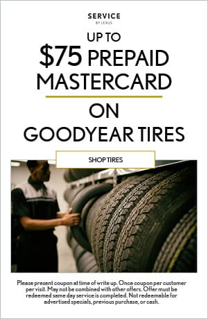 Up To $75 Prepaid Mastercard on Goodyear Tires