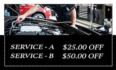 $25 off Service A/ $50 Off Service B