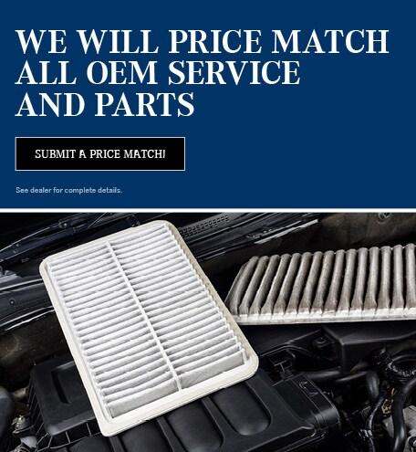 OEM Service & Parts Price Match