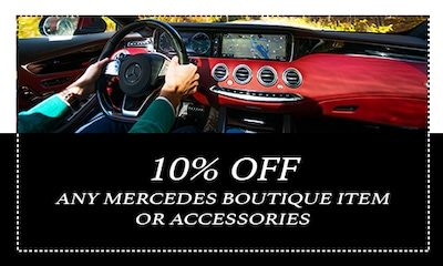 10% off any Mercedes boutique or accessories item